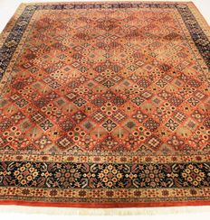 Beautiful hand woven Orient carpet Indo Keshan Keschan 305 x 405 cmMade in India, end of the 20th century. Very good condition. From €1, no reserve