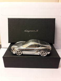 Porsche Cayman S - solid metal paperweight - model 1:43
