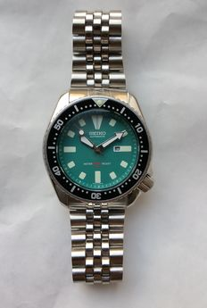 "Seiko ""Green"" 4205 Vintage Scuba Diver - men's watch - 07-1985"