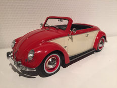 KK-Scale - Scale 1/18 - Volkswagen 1200 Hebmüller 1949 - Colour Red/Beige