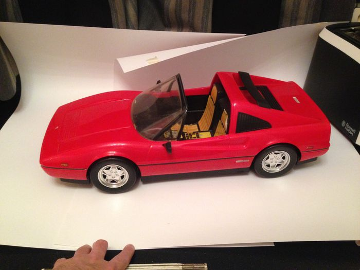 Ferrari 328 GTS - large plastic scale model  - 60 x 23 cm