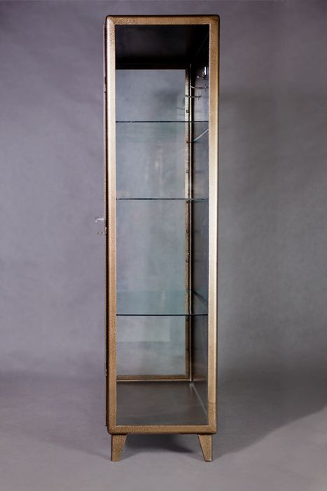 Vintage Polish Doctor's Medical Cabinet in Antique Gold - Catawiki