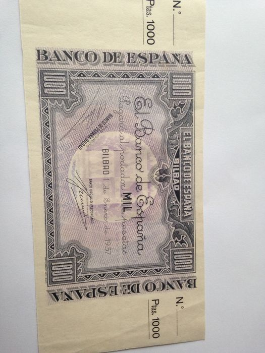 Spain - Lot of three banknotes from Bilbao, 1st January 1937