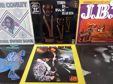 Otis Redding, Arthur Conley, Isaac Hayes. Lot of 13 great soul records from the sixties and seventies.