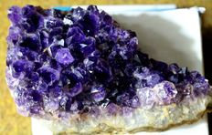 Dark Amethyst Crystals on matrix - 140 x 48 x 85 mm - 600gm