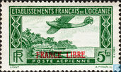 "Aircraft, overprint ""France libre"""