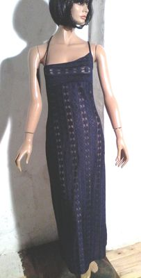 Christian Lacroix - Vintage navy blue lace dress
