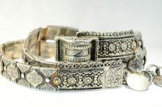 Very rare waistband in silver and niello, Russia, Moscow, 1877