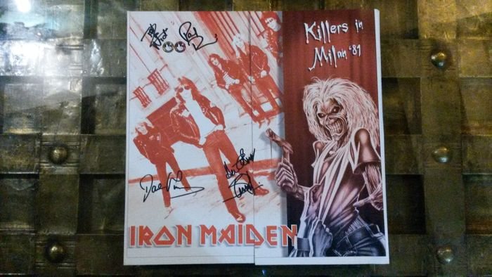 """Iron Maiden – Killers In Milan '81 Limited  Colour Copy With Special Gatefold Sleeve """""""" Pigs On The Goroove"""""""""""