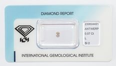 0.07 ct brilliant cut diamond L SI2