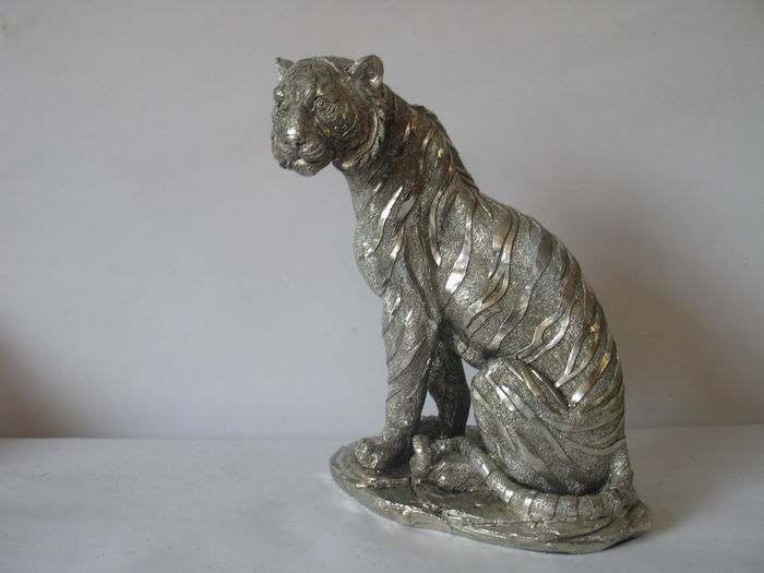 Unique plastic figure of a Bengal tiger.