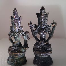 Two bronze characters - East-Java - Indonesia