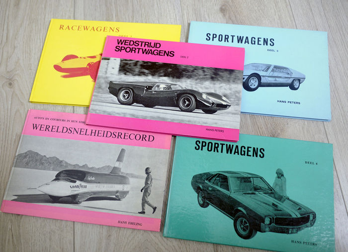 5x automobile books - publication Peters Deventer - Hans Peters / Hans Ebeling - A5 size