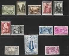 Belgium 1933 – Large Orval – OBP 363/374