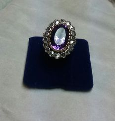 14 kt gold and silver ring