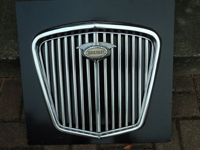 1 Wolseley grille , 1950's, dimensions: approx. 52 cm x 50 cm