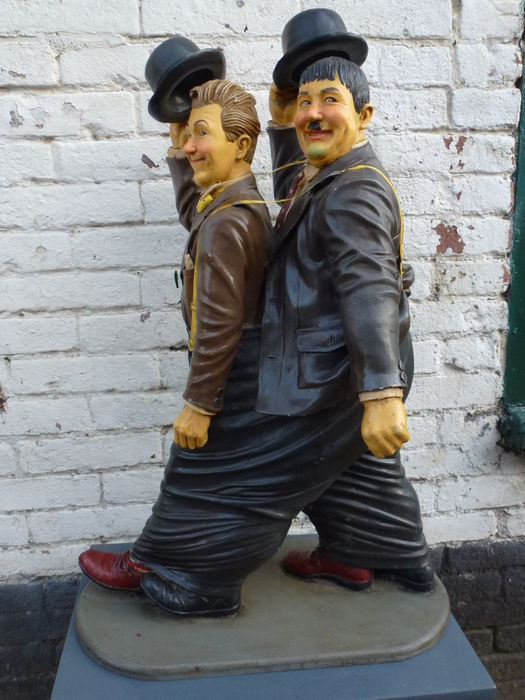 Laurel & Hardy - also called Stan and Ollie - plastic statue