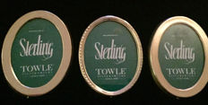 Three Vintage Towle Sterling Silver Picture Frames