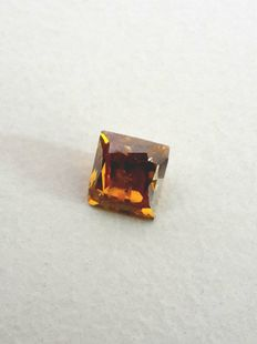 1.01 ct Natural Fancy Deep Brownish Orange I1