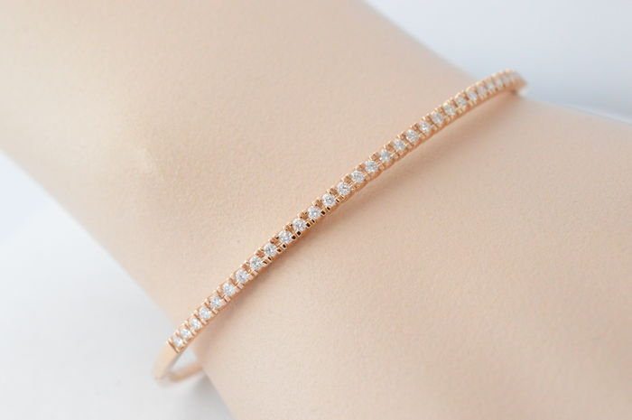 Rose gold diamond bangle - 60 * 50 mm