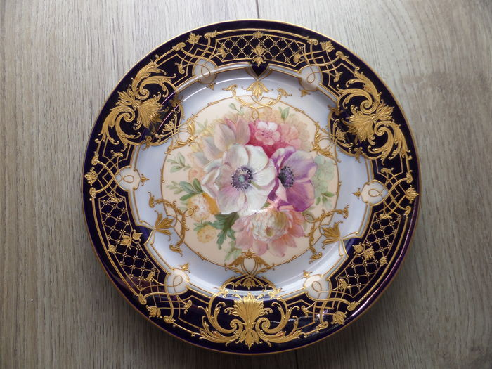 Berlin KPM hand painted porcelain plate