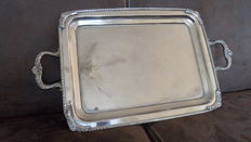 English plated silver serving tray
