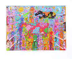 James Rizzi - Look, there are cows in the city - The Big Apple is big on Broadway