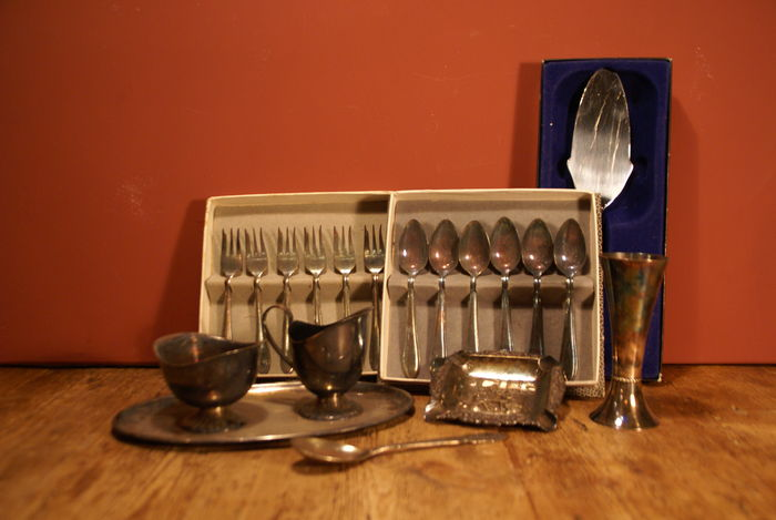 Lot of Silver-Plated Flatware