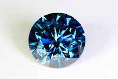 Blauwe Diamant - 0.98 ct