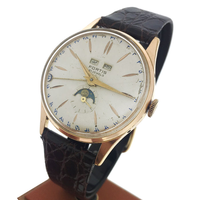 FORTIS Triple Date Calendar Moonphase Men's Watch, 1950's