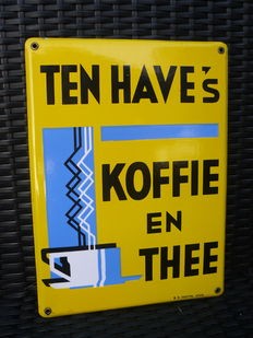"""Ten Have's koffie en thee"" - enamel sign - N.V.Chottel - ca from the 50s"
