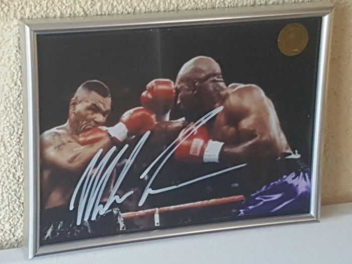 Mike Tyson - Multiple World Champion Heavyweight Boxing - Original autographed framed photo + COA.