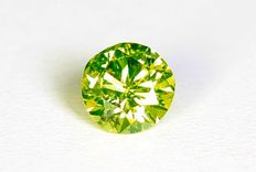Green yellow diamond – 0.16 ct