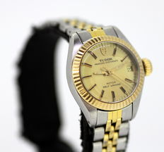 Tudor Princess Oysterdate Automatic, Vintage Stainless Steel Ladies Wristwatch 1986, By Rolex