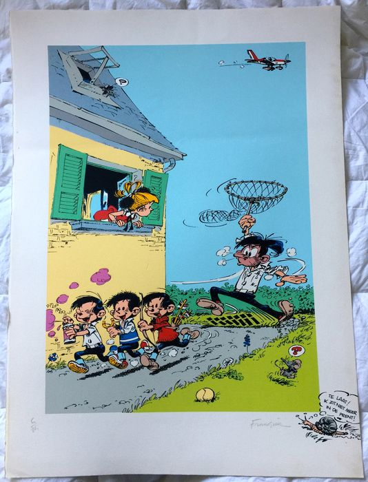 Franquin, André - Silkscreen print - Ton & Tineke - Dutch version (1990)