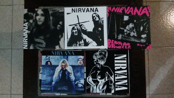 Lot of 5 vinyl 7 inch EP's of Nirvana Limited