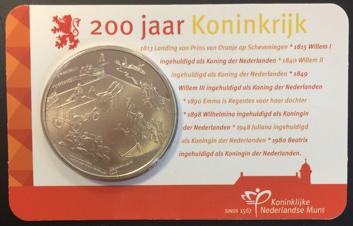 The Netherlands – Penny 2013 '200 jaar Koninkrijk' in coin card