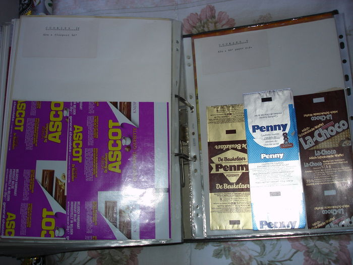 Packaging - Large lot with old advertising prints (proofing) - famous food packaging - from the 50s/70s