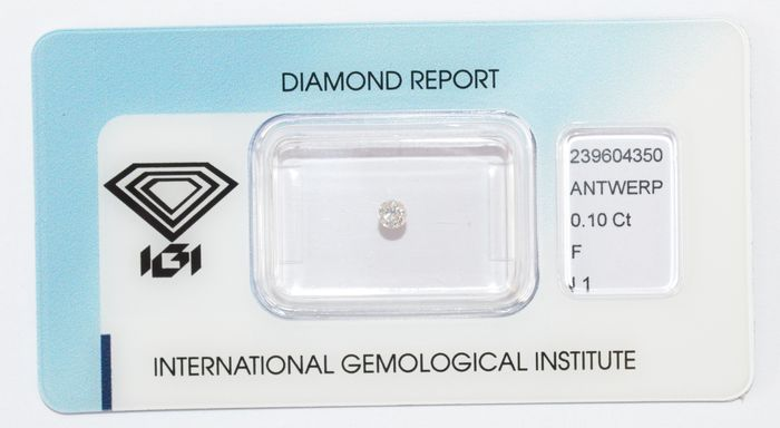 Diamante a taglio brillante da 0,10 ct – F I1