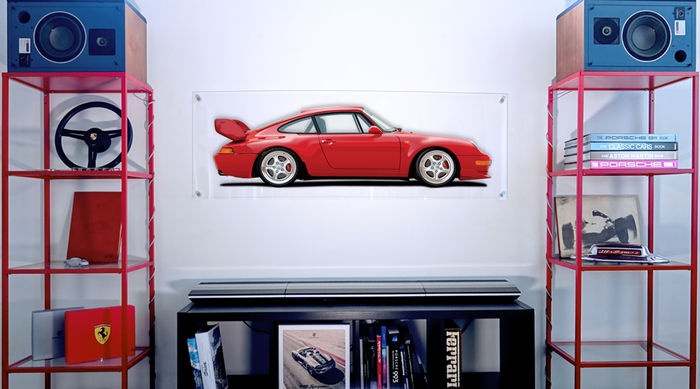 Painting on plexiglass - Porsche 993 CARRERA RS