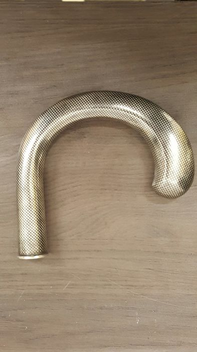 Silver hook grip in niello technique - Germany - ca. 1925