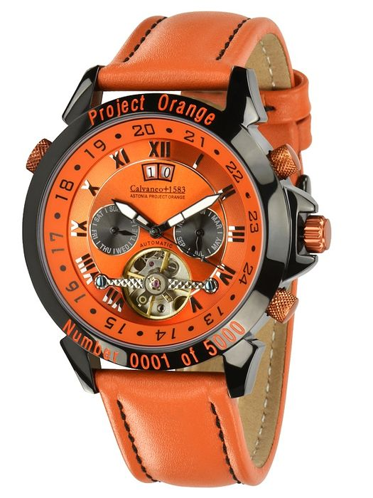 Calvaneo 1583 Astonia Project Orange – orologio da uomo - nuovo