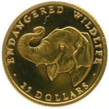 Cook Islands - 25 Dollars 1990 Elephant - 1/25 oz - Gold