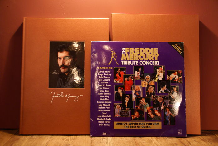 Freddie Mercury Limited edition Box & Tribute Concert double laserdisc