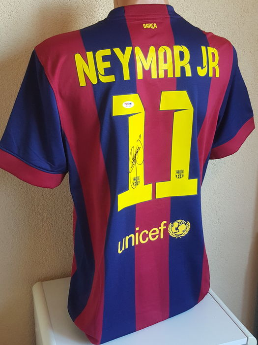 0b7dbab9667 Neymar JR - original hand signed official FC Barcelona jersey + LOA PSA DNA  including