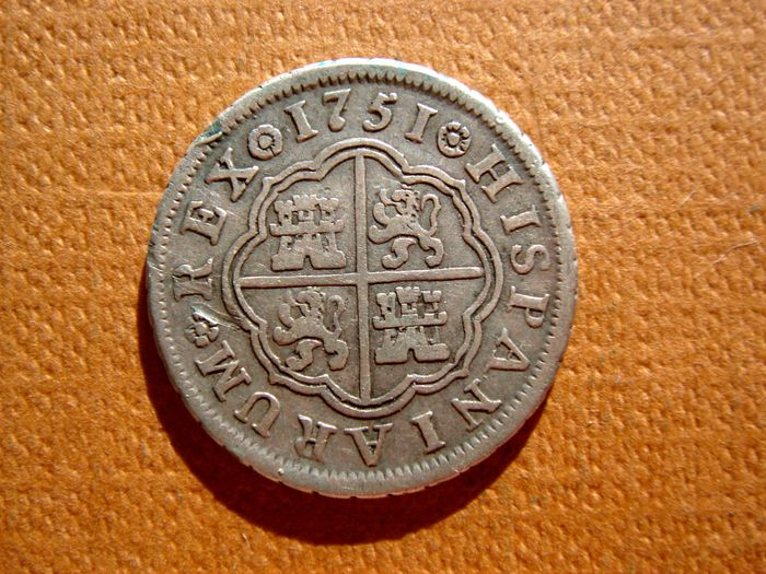 Spain – Fernando VI (1746 – 1759)  1 silver real. Madrid, 1751.