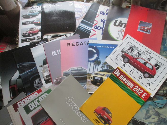 Car folders Fiat/Lancia (including Abarth/HPE/Ritmo, 20x, 1982-1992)