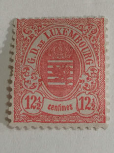 Luxembourg 1876 - State coat of arms 12 1/2 centimes, 13 serration