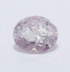 IGI certified 0.09 ct - of course, fancy brownish pink diamond