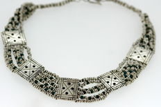 Vintage Sterling Silver Necklace, Made in London 1980